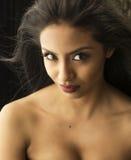 Pelo de la belleza y retrato cosméticos del maquillaje fotografía de archivo libre de regalías