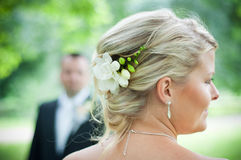 Pelo de la boda Fotos de archivo libres de regalías