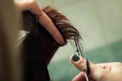 Pelo del corte del peluquero Imagen de archivo