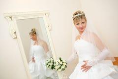 Pelo espelho Foto de Stock