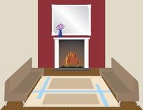 Pelo incêndio Imagens de Stock Royalty Free