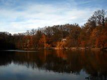 Pelo lago Foto de Stock