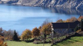 Pelo lago Imagem de Stock