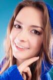 Pelo largo de la muchacha adolescente de la mujer joven del retrato Imagenes de archivo