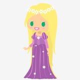 Pelo largo de la princesa Muchacha del castillo Carácter del cuento de hadas Imagen de archivo