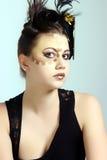 Pelo loco y maquillaje Fotos de archivo libres de regalías
