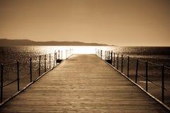 Pelo mar Imagem de Stock