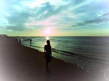 Pelo mar Foto de Stock Royalty Free