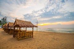 Pelo mar na manhã Fotografia de Stock
