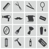 Pelo negro e iconos del vector Libre Illustration