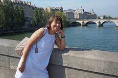Pelo Seine River Imagem de Stock