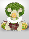 Pelo verde Teddybear Foto de archivo