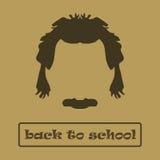 Pelo y bigote Einstein del icono Ilustración del vector ilustración del vector