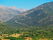 Peloponnes-Berge und Ackerland, Griechenland Stockbilder