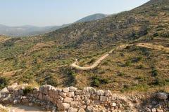 Peloponnes nahe Mycenae lizenzfreie stockfotos