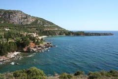 Peloponnes-Strand Lizenzfreie Stockfotos