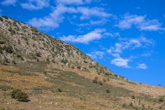 Peloponnese Abstract mountain landscape. Of earth and sky in equilibrium stock photo