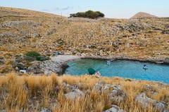 Peloponnese Coast Scenery Stock Photography