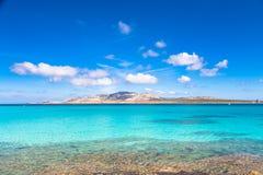 Pelosa海滩,撒丁岛,意大利 免版税库存照片