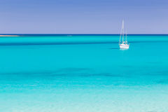 Pelosa海滩,撒丁岛,意大利 图库摄影