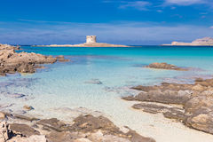 Pelosa beach, Sardinia, Italy. Stock Photography