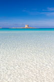 Pelosa beach, Sardinia, Italy. Stock Photos
