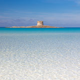 Pelosa plaża, Sardinia, Włochy Fotografia Royalty Free