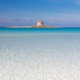 Pelosa strand, Sardinia, Italien Royaltyfri Fotografi