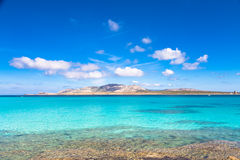 Pelosa strand, Sardinia, Italien Royaltyfri Foto