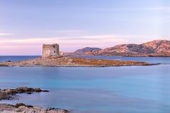 Pelosatoren, Stintino, Sardinige Italië stock afbeelding