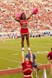 Pelotón Cheerleading de la universidad de estado de la Florida Fotos de archivo libres de regalías