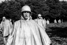 Pelotón del monumento de Guerra de Corea Imagen de archivo libre de regalías