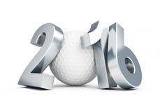 Pelota de golf 2016 ilustración del vector