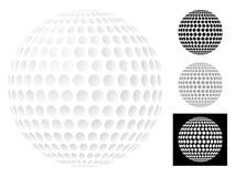 Pelota de golf aislada en blanco Imágenes de archivo libres de regalías