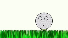 Pelota de golf asustada stock de ilustración