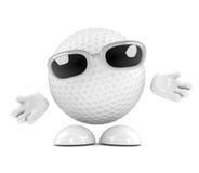 pelota de golf 3d con los brazos extendidos libre illustration