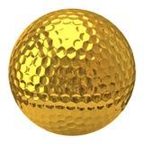 Pelota de golf de oro Fotos de archivo