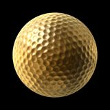 Pelota de golf de oro Imagen de archivo libre de regalías