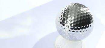 Pelota de golf del cromo Fotografía de archivo