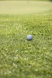 Pelota de golf en franja Imagen de archivo