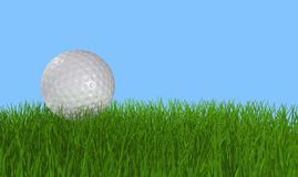 Pelota de golf en hierba libre illustration