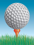 Pelota de golf en la hierba Ilustración del Vector