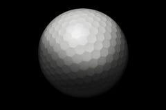 Pelota de golf en negro Imagenes de archivo