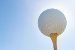 Pelota de golf en te Cierre para arriba Imagen de archivo