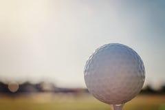 Pelota de golf en te Cierre para arriba Fotos de archivo
