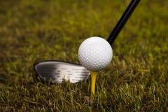 Pelota de golf en te en programa piloto Imagen de archivo libre de regalías