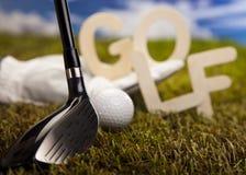 Pelota de golf, golf Foto de archivo libre de regalías