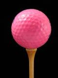 Pelota de golf rosada Fotos de archivo libres de regalías