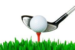 Pelota de golf y club Imagen de archivo