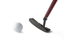 Pelota de golf y palillo Imagen de archivo libre de regalías